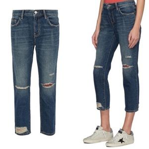 Current Elliott The Repaired Fling Cropped Jeans